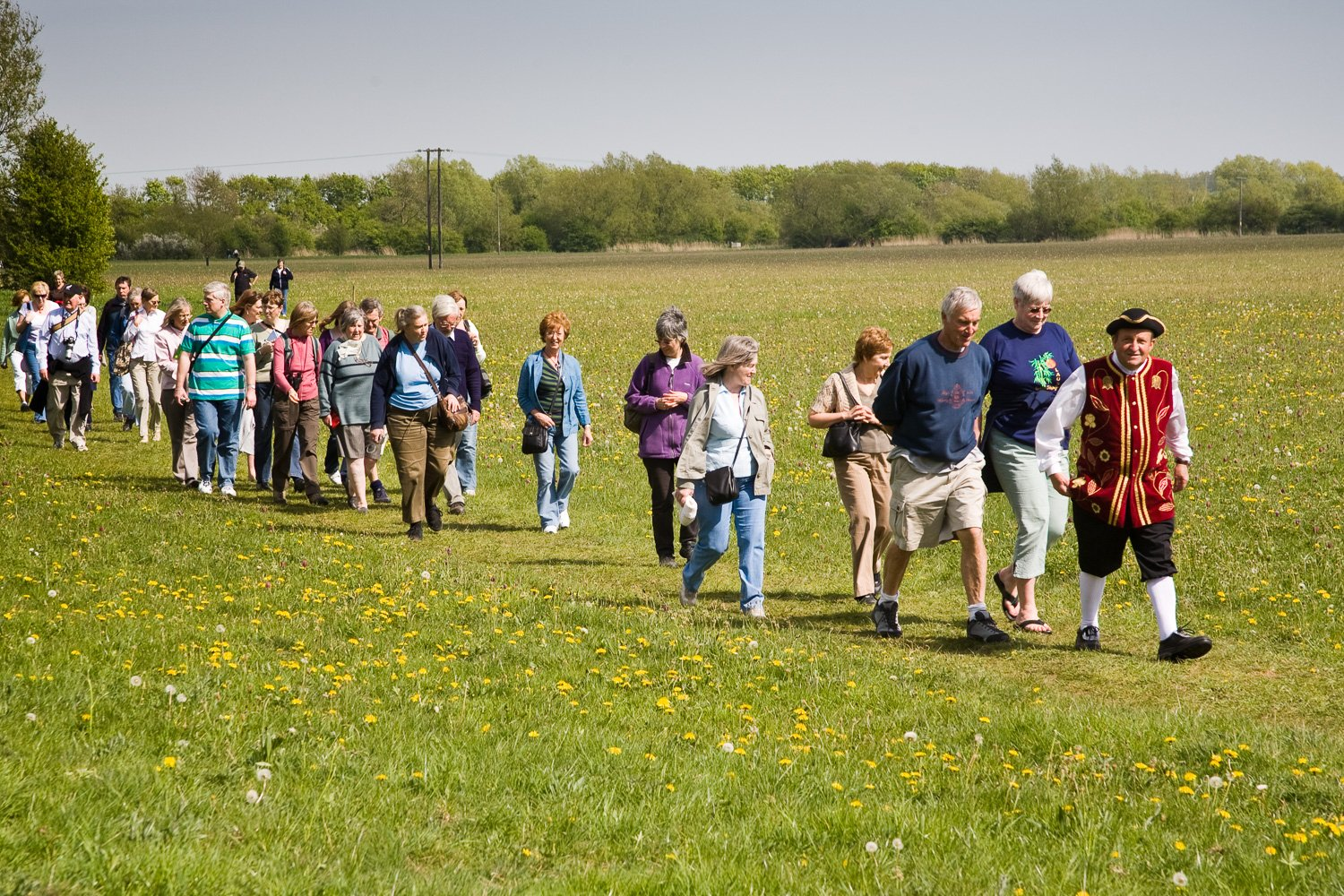 Cricklade Town Crier leads visitors on guided walk of North Meadow